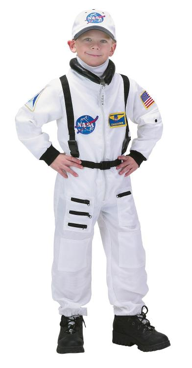 Jr. Astronaut Suit w/Embroidered Cap, size 12/14 (white)