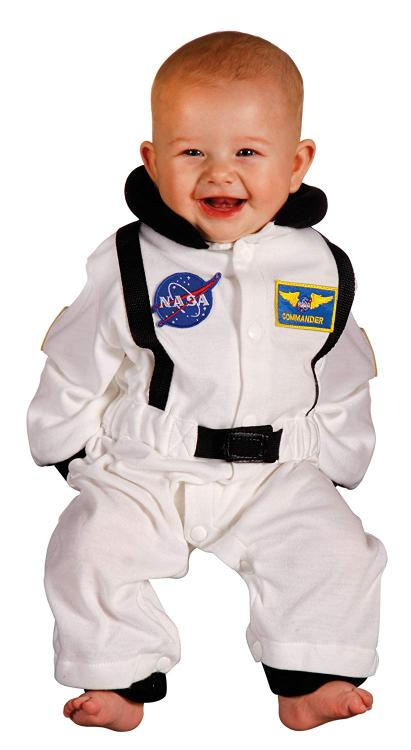 Aeromax Jr. Astronaut Suit, size 6 to 12 Months (white)