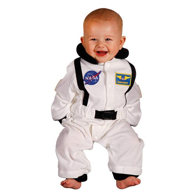 Jr. Astronaut Suit, size 6 to 12 Months (white)
