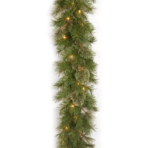 National Tree Atlanta Spruce Garland with Clear Lights