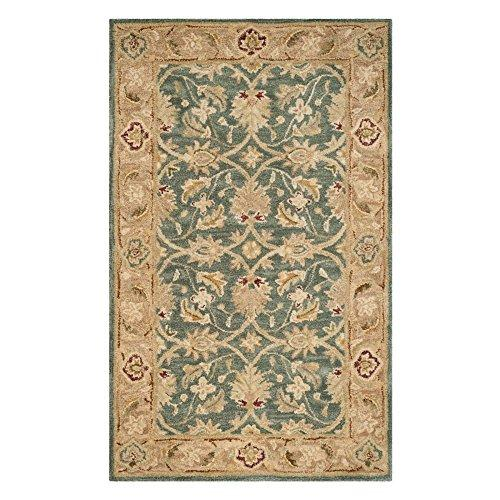 Traditional Rug - Antiquity Wool Pile -Teal Blue/Taupe