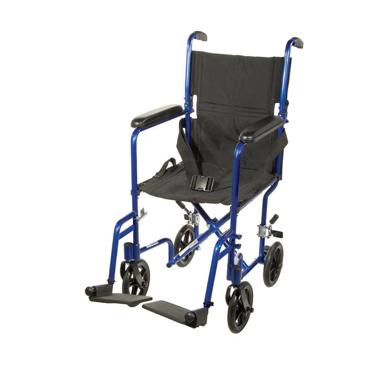 Drive Medical Lightweight Transport Wheelchair [Item # ATC17-BL]