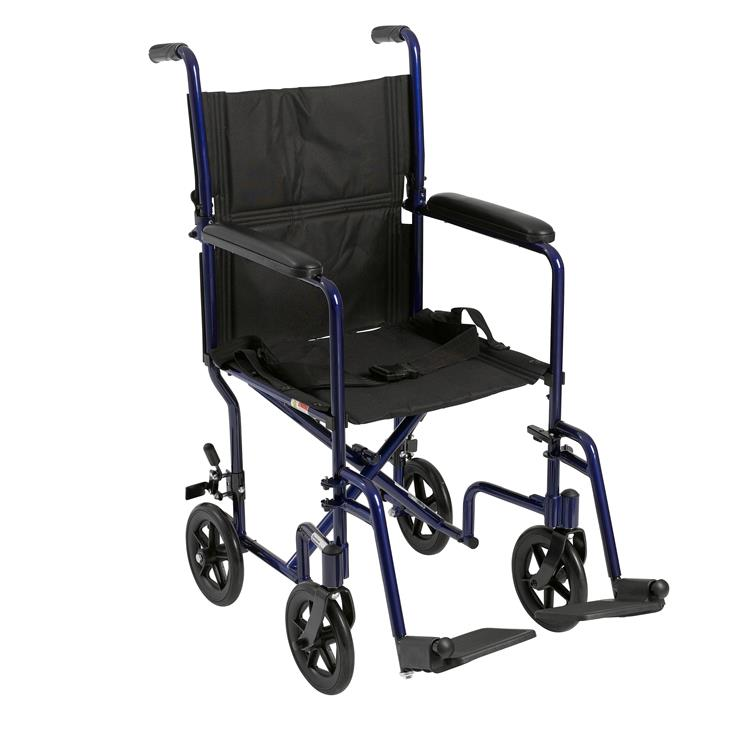 Drive Medical Lightweight Transport Wheelchair [Item # ATC19-BL]
