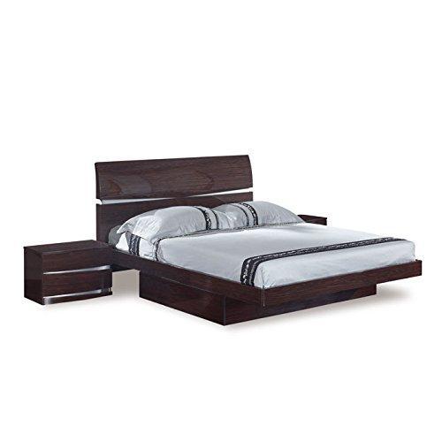 Global Furniture Full Bed, Wenge, Mdf, Wood Veneer