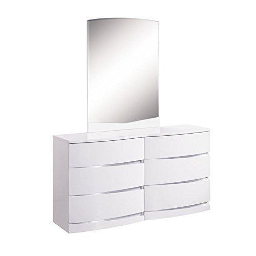 Global Furniture Big Dresser, White, Mdf, Wood Veneer