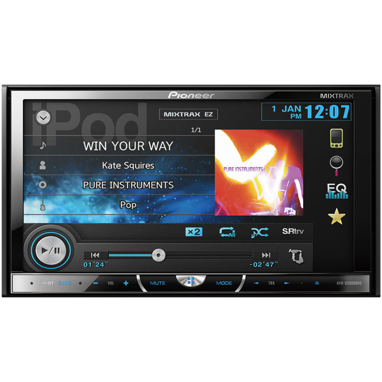 Pioneer Mobile 2-DIN Multimedia DVD Receiver with 7 In. Touchscreen Display and HD Radio Tuner - Pioneer Mobile - AVH-X5500BHS
