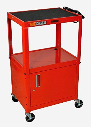 Luxor Adjustable Height Steel A/V Cart - Cabinet