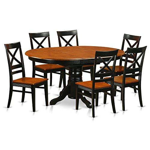 East West Furniture 5-Piece with Chairs Avon Dining Set