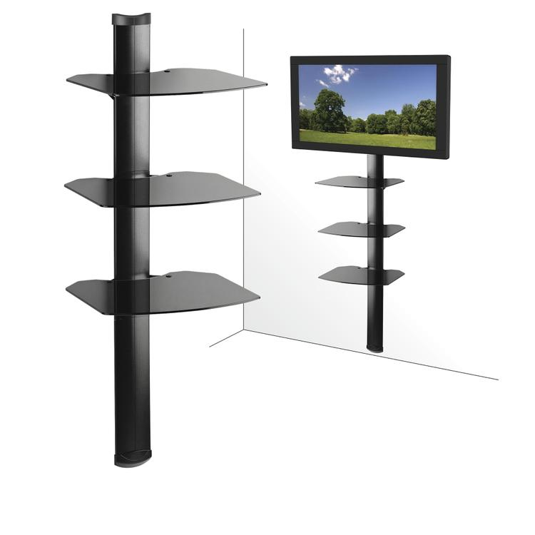 Kanto AVS3 AV Component Wall Shelf System - Triple