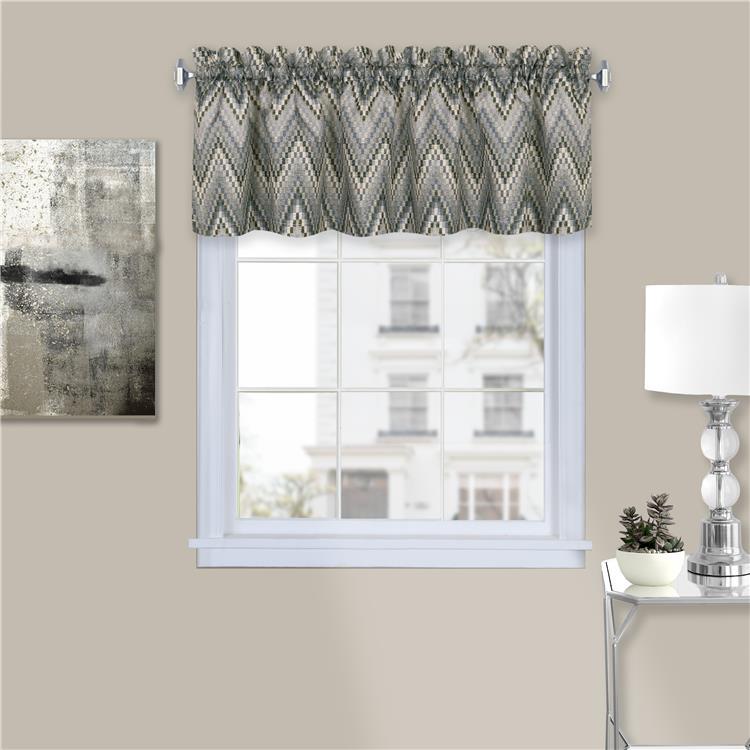 Achim Avery Window Curtain Valance - 58x14 - Charcoal [Item # AVVL14CC12]