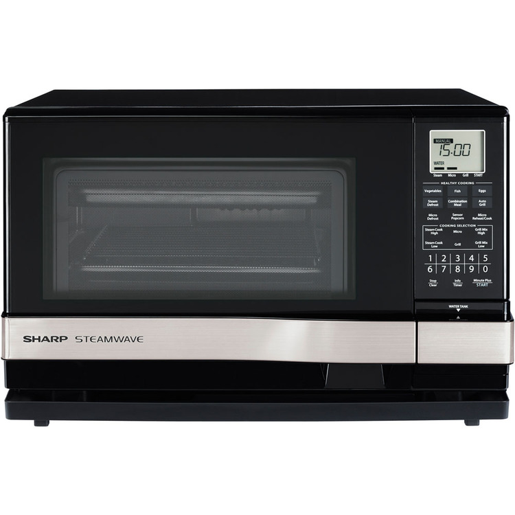 SHARP AX-1100S 1.0 Cu. Ft. 900W Steamwave with Silver Handle