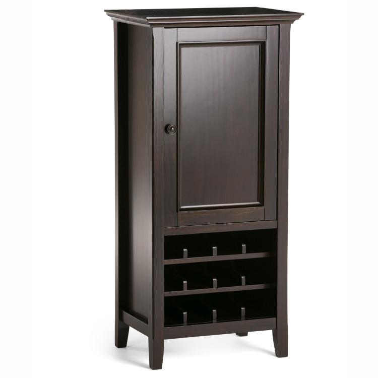 Simpli Home Amherst High Storage Wine Rack