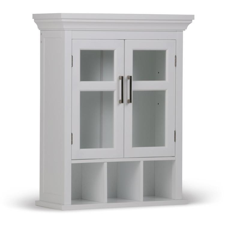 Avington Two Door Wall Cabinet with Cubbies