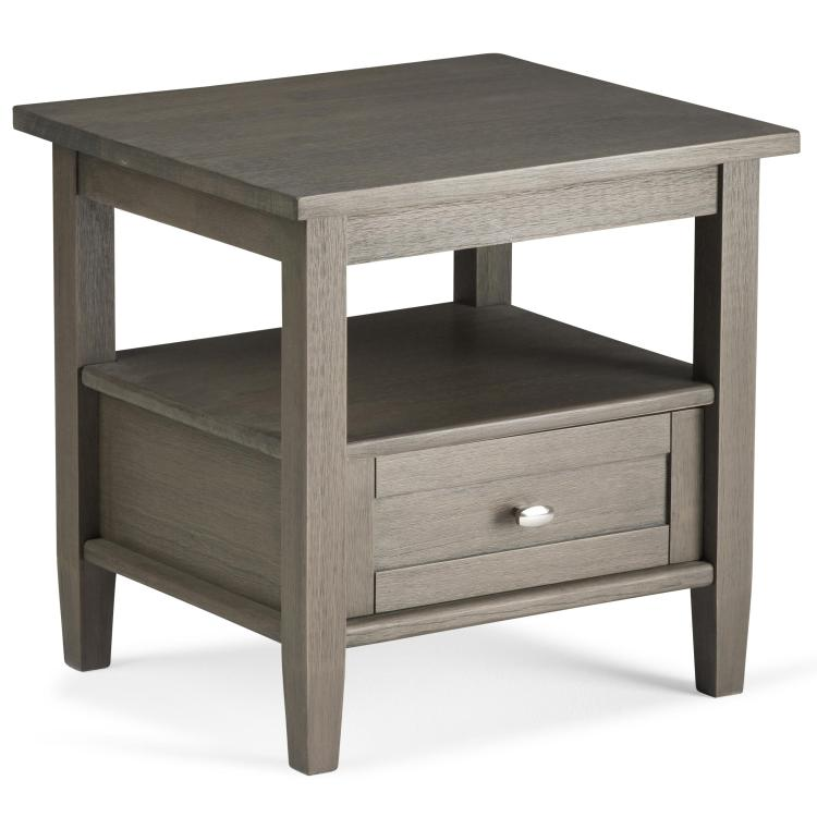Simpli Home Warm Shaker End Side Table