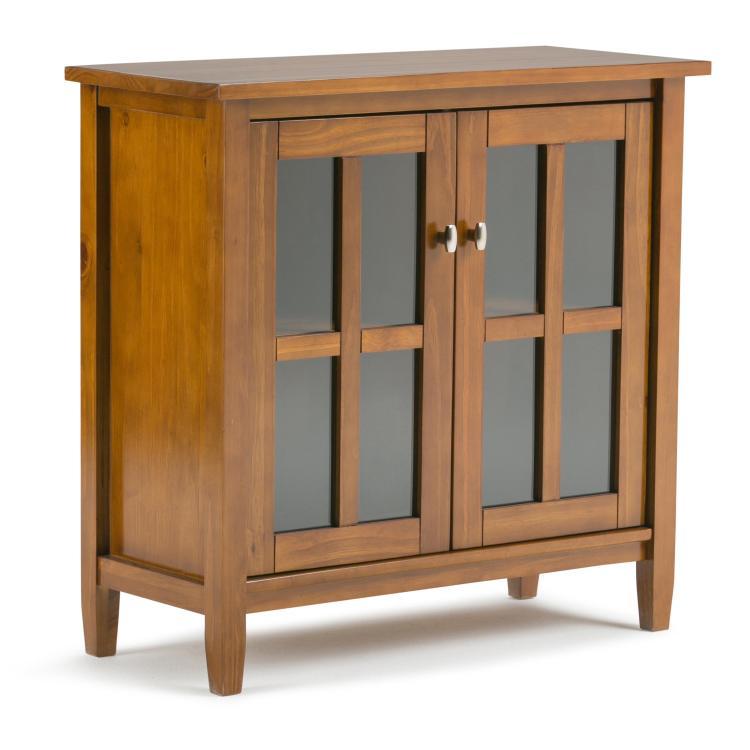 Simpli Home Warm Shaker Low Storage Cabinet
