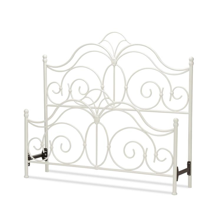 Rhapsody Bed With Curved Grill Design And Finial Posts