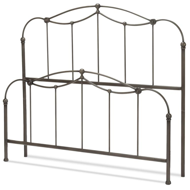 Affinity Bed with Metal Spindle Panels and Detailed Castings