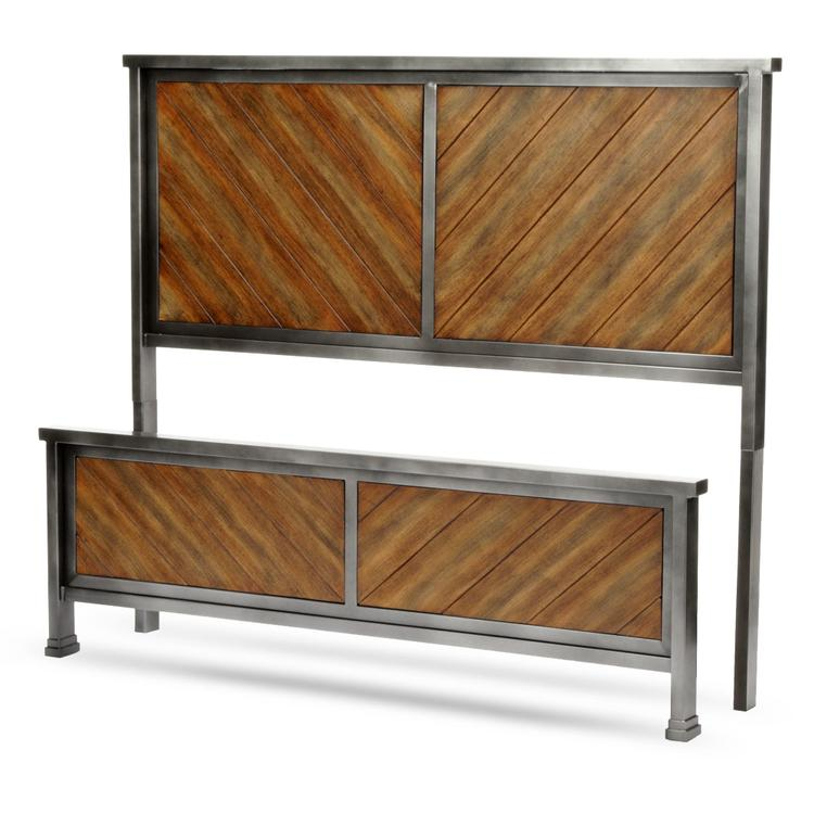 Braden Bed with Metal Panels and Reclaimed Wood Design