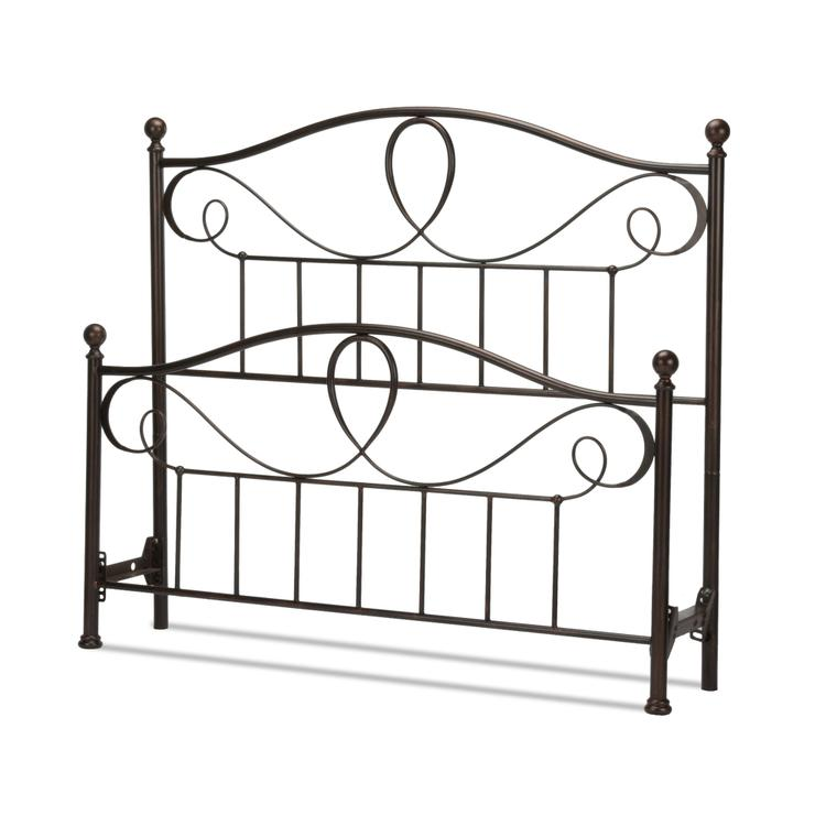 Sylvania Bed With Metal Curved Grill Design And Canopy Compatibility