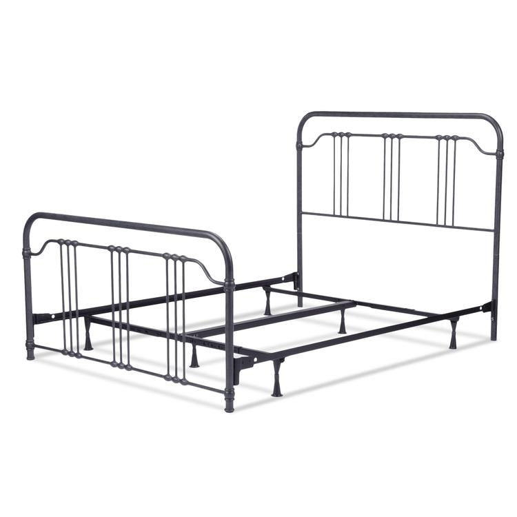 Wellesly Complete Bed With Metal Spindled Grills And Rounded Corners