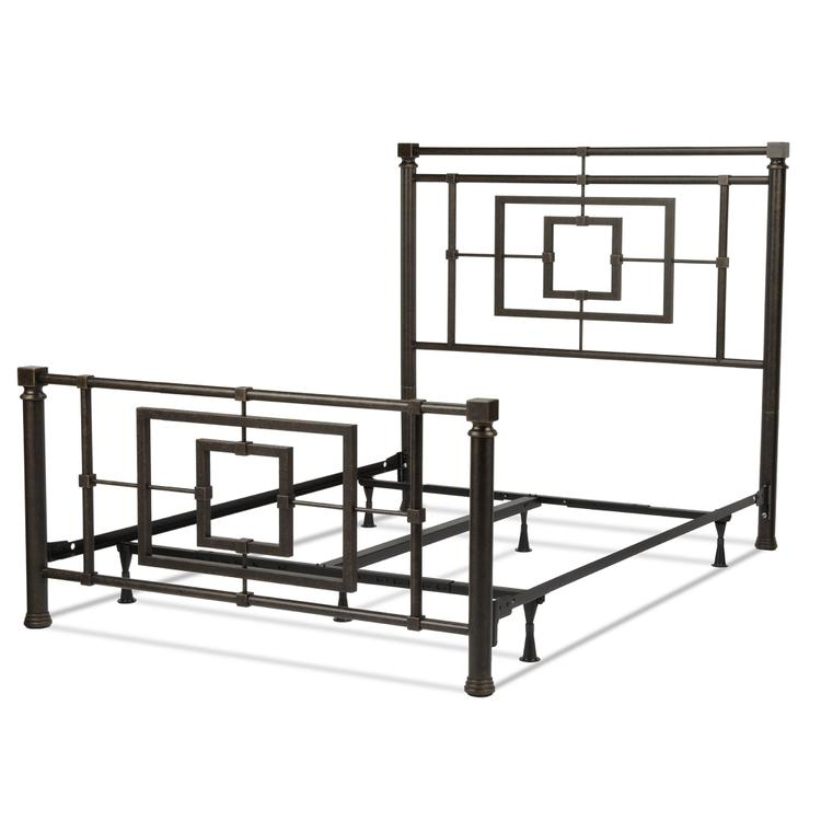 Sheridan Complete Bed With Squared Metal Tubing