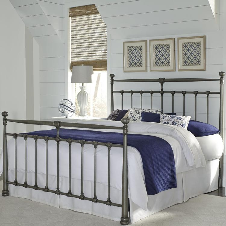 Kensington Complete Metal Bed With Stately Posts And Detailed Castings