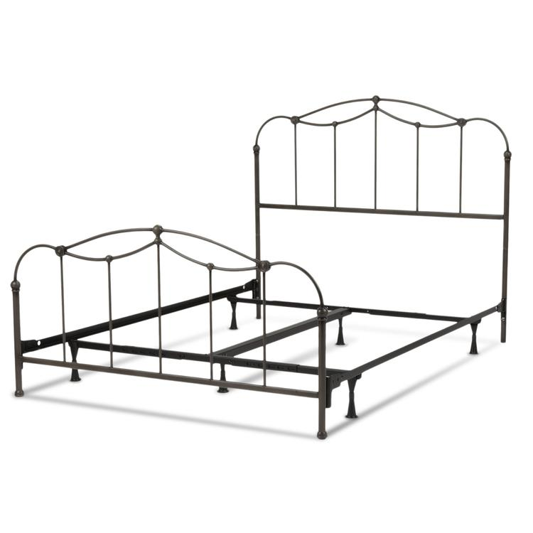 Affinity Complete Bed With Metal Spindle Panels And Detailed Castings