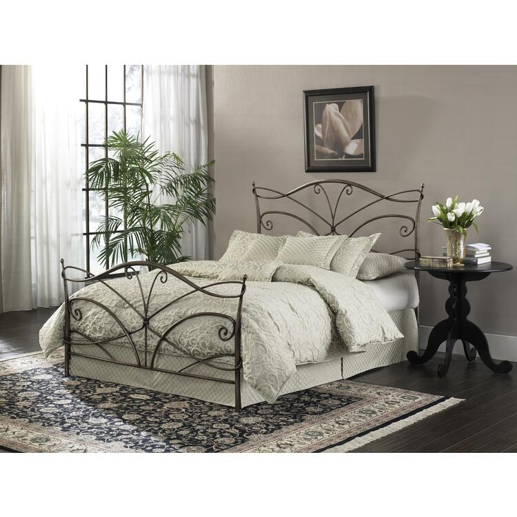 Papillon Brushed Bronze Bed