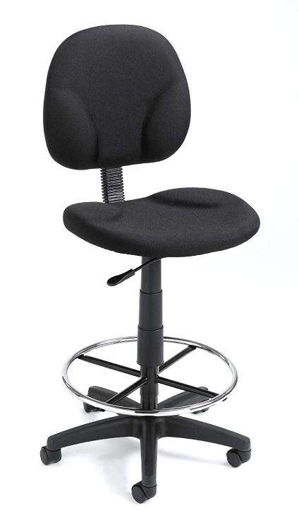 Boss Office Boss Fabric Drafting Stools with Footring