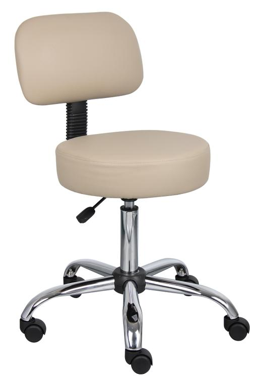 Boss Caressoft Medical Stool with Back Cushion