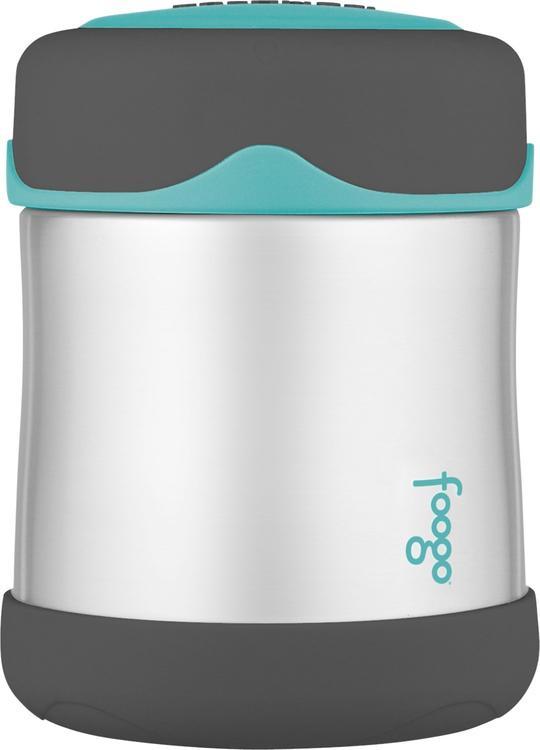 Thermos Foogo® Stainless Steel, Vacuum Insulated Food Jar - Teal/Smoke - 10 oz.