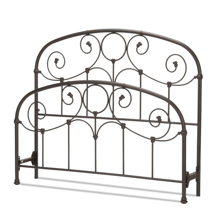 Grafton Bed with Metal Scrollwork Panels and Decorative Castings
