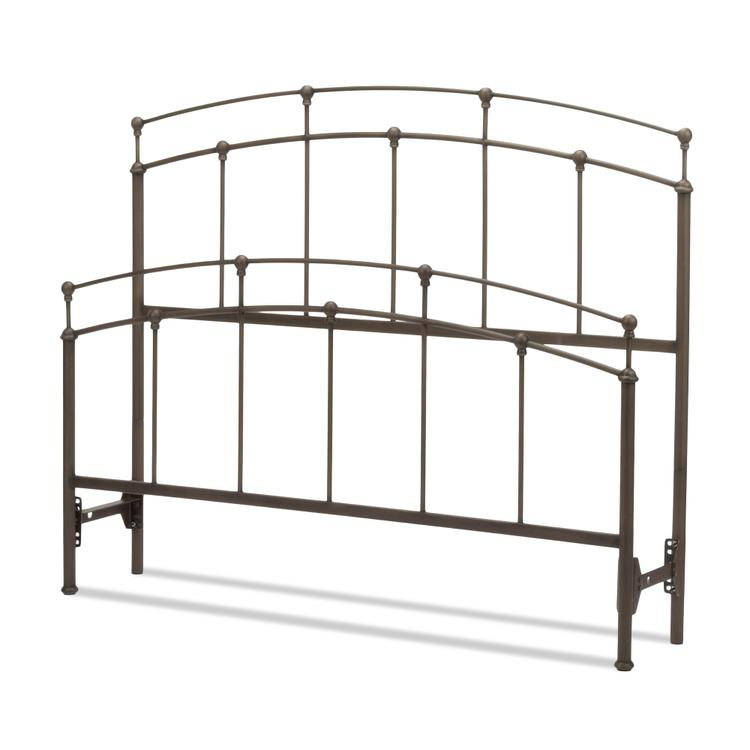 Fenton Bed with Metal Duo Panels and Globe Finials