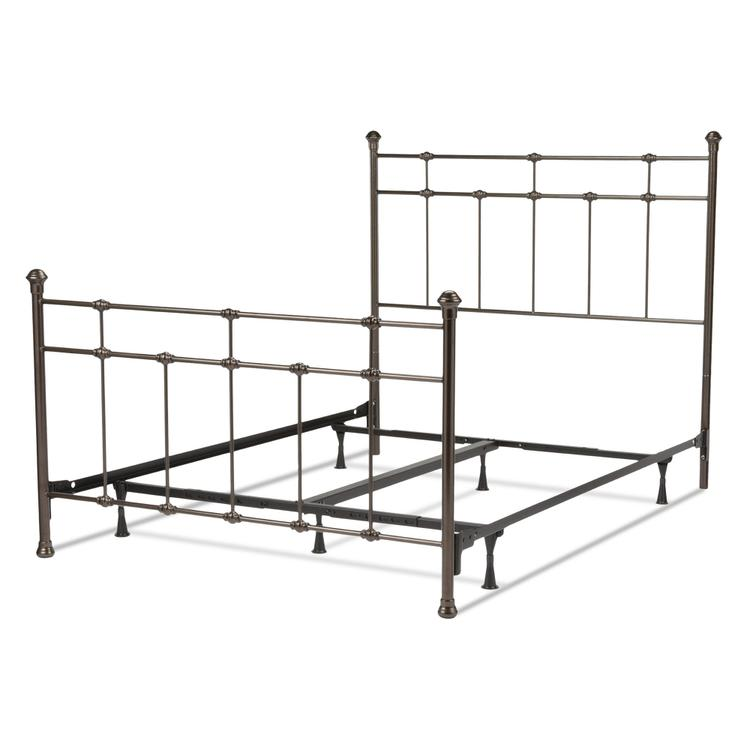 Dexter Complete Bed With Decorative Metal Castings And Globe Finials