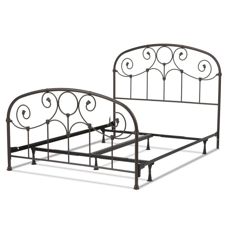 Grafton Complete Bed With Metal Scrollwork Panels And Decorative Castings