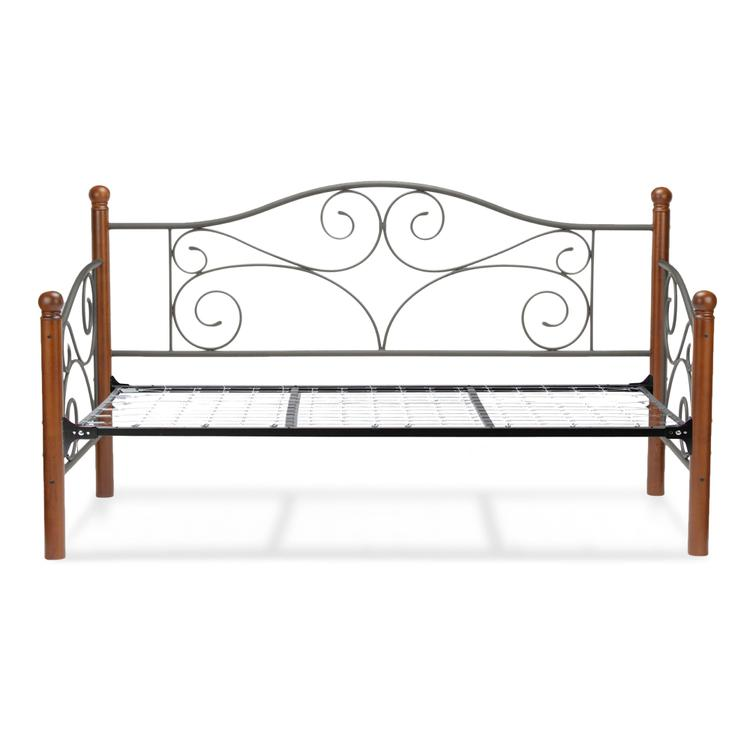 Doral Complete Metal Daybed with Scrolled Spindle Panels and Link Spring