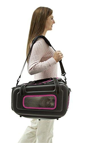 The Airline Approved Collapsible Lightweight Ergo Stow-Away Contoured Pet Carrier