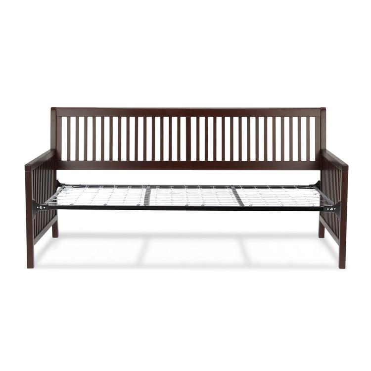 Mission Complete Wood Daybed with Open-Slatted Panels and Link Spring