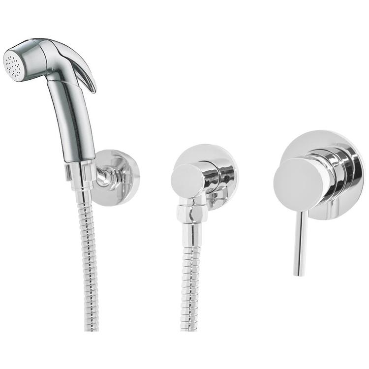 Bidet Flexible Hose Shower Kit RND + Lever