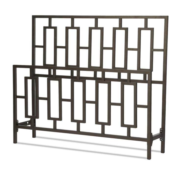 Miami Bed With Squared Tube Metal Duo Panels