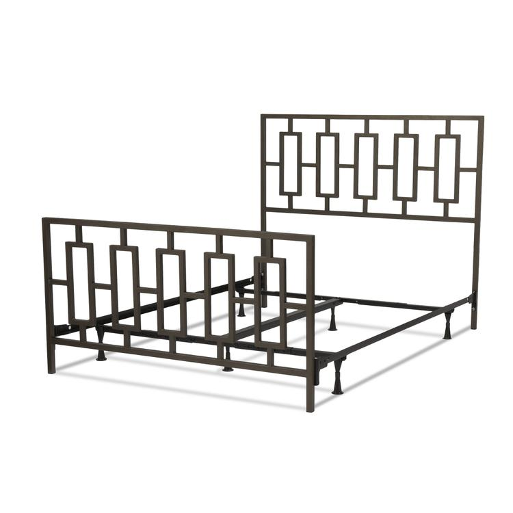 Miami Complete Bed With Squared Tube Metal Duo Panels