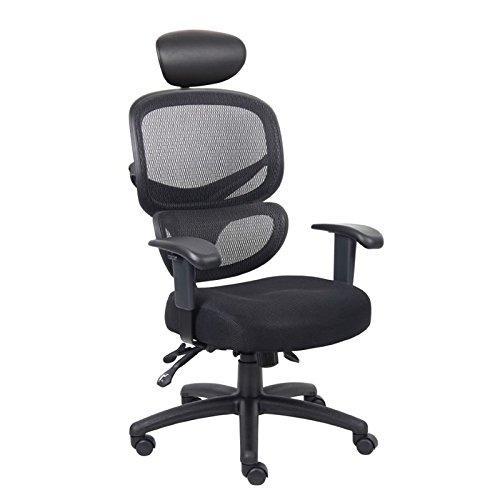 Boss Office Multi-Function Mesh Task Chair w/Headrest