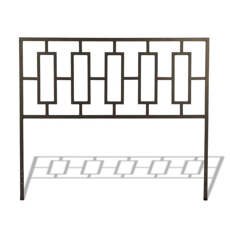 Miami Metal Headboard with Squared Tubing and Geometric Design