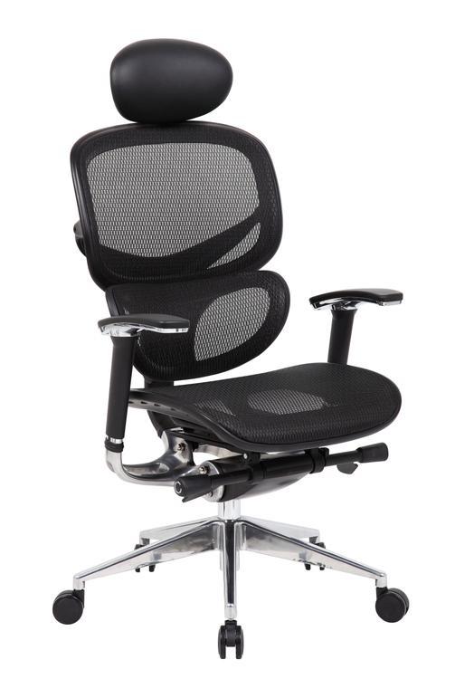 Boss Office Multi-Function Mesh Chair W/ Head Rest