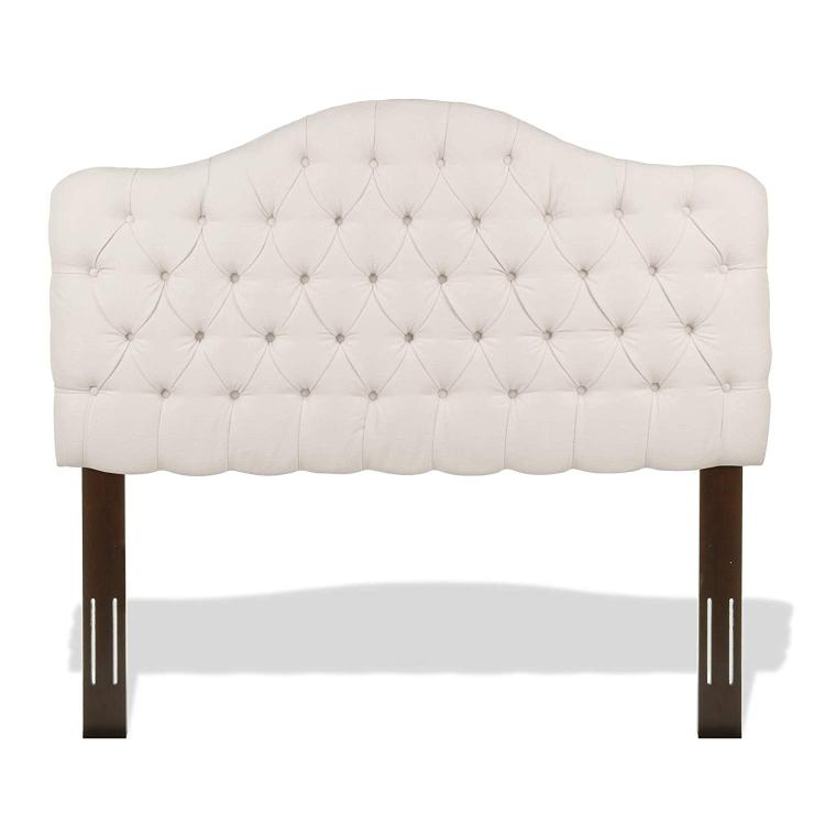 Martinique Upholstered Adjustable Headboard Panel with Solid Wood Frame and Button-Tufted Design