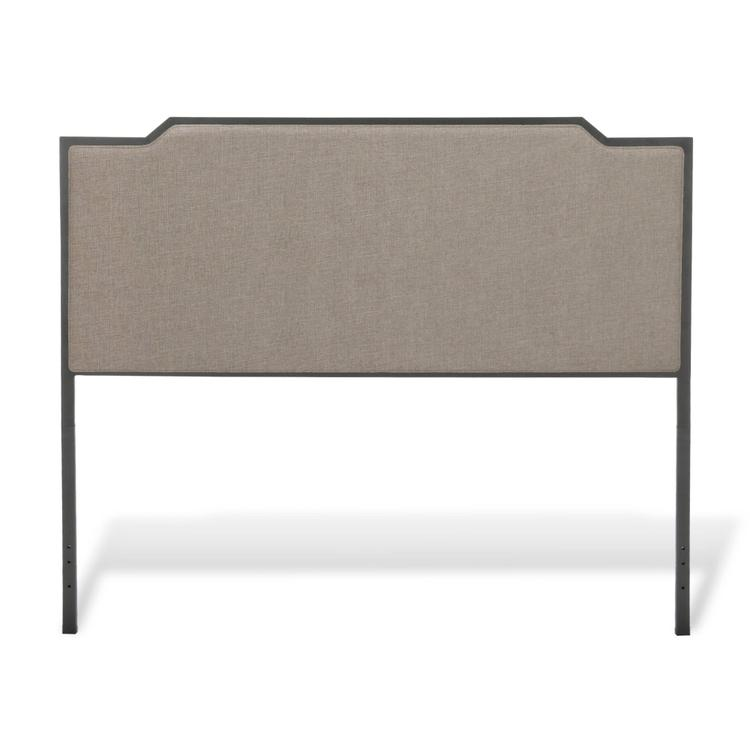 Bayview Metal Headboard with Gray Dove Upholstery
