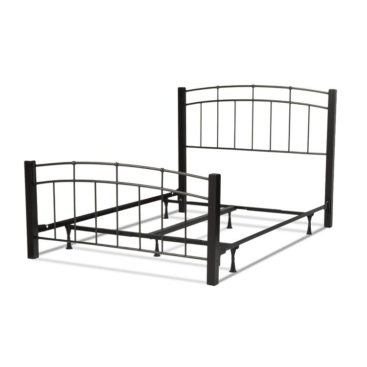 Scottsdale Complete Bed With Metal Panels And Wooden Posts
