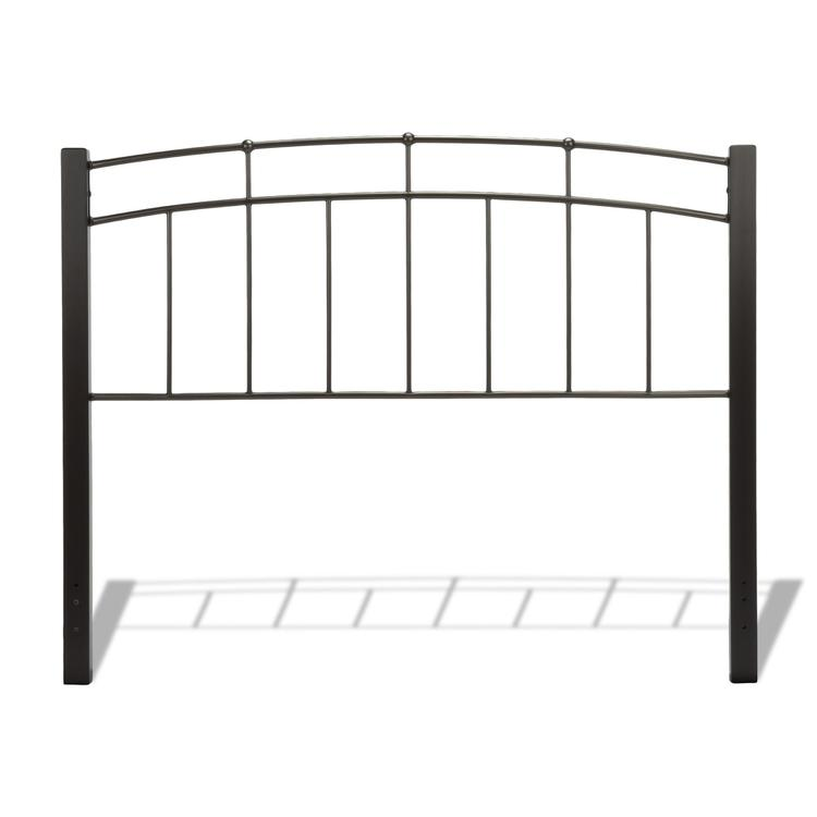 Scottsdale Metal Headboard with Sloping Top Rails and Dark Espresso Wooden Posts