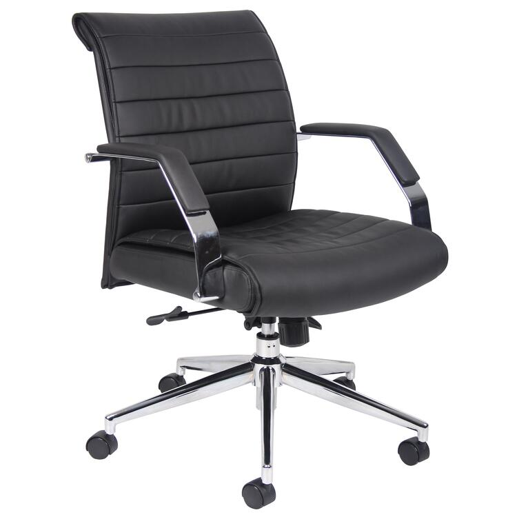 Boss Executive Mid Back Ribbed Chair
