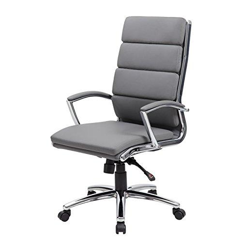 Boss Office Executive CaressoftPlus Chair with Metal Chrome Finish